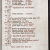 Opening of calendar, initials rubrics.  Note in manuscript argues that inclusion of feast of Translation of St. Thomas Aquinas is possible evidence that this ms. was made for Dominicans.
