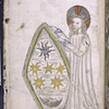 Full-page miniature of God creating the stars.