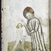 Full-page miniature of God creating Adam.