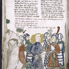 Text with rubrics and placemarkers; miniature including Samson.