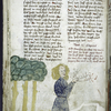 Text with placemarkers and rubric; miniature including Samson.