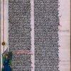Miniature of Christ, book name at top of page.