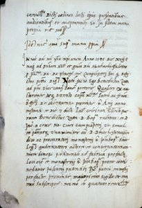 End of fourth document, and end of hand 3.  Opening of fifth document (of Benedictus Zatta), with date, and hand 4.