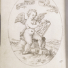 Emblem of Cupid as artist, drawing a picture of himself; in the lower margin, possible artist's sign (S with diagonal drawn through)