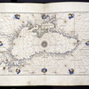 Portolan map of the Black Sea, with a few characteristics of a land map, such as the pictorial representation of Adrianople.
