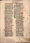 Explicit, red daubs as placemarkers, rubrics, small red initials.  Hand 4 (13th century according to note in dossier).