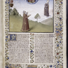 Opening of vol. 3, large miniature, full border, 5-line initial, coat of arms, hand A