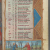 First page of calendar, with small miniature showing Aquarius, fol. 3