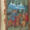 Full-page miniature of riding, in May, fol. 6v