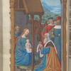Full-page miniature of the Adoration of the Magi, fol. 73v