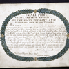 Dedication to John Lord Petre, with border of leaves.