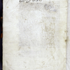 Note (partially defaced) about ownership of the book by Jacques d'Armagnac.