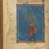 Large miniature with text, initials, and linefiller fol. 1v