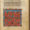 Miniature of demons, with text, initials, linefiller, placemarkers fol. 3r