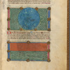 Two miniatures, of the waters and the firmament, with text, initials, linefillers, fol. 4r