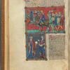 Two miniatures, with text, initials, linefillers, fol. 15v