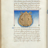 Miniature of the Lyre, with text and 1-line blue initial.