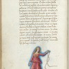 Miniature of Andromeda, with text and 1-line blue initial