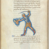 Miniature of Perseus, with text and 1-line blue initial