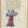 Miniature of Auriga the charioteer, with text