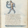 Miniature of the Serpent Holder and the Spear, with text and 1-line blue initial