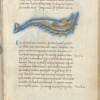 Miniature of the Dolphin, with text and 1-line blue initial