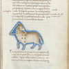 Miniature of Aries, with  Deltoton, the Triangle, with text and 1-line blue initials.