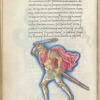 Miniature of Orion, with text and 1-line blue initial