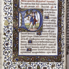 """Historiated initial of the Fool and a devil for the psalm, """"Dixit insipiens in corde suo"""""""