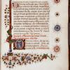 Page of text with small historiated initial of Pentecost.