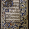 Opening of main text, with initials, border and rubrics.