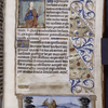Text with miniatures of St. Barbara? and of grotesques, initials and linefillers, rubric and border.