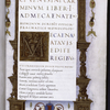 Frontispiece and initial M.