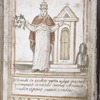 Portrait of Pope Julius III, with text and design-filled box.