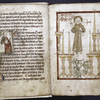 Small miniature of John and full-page miniature of the First Vision