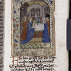 Presentation in the Temple miniature; initial, underlining, placemarkers.