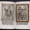 2 images (55v: Virgin and Child seated in a rose; 56: Female saint with children in garden), placemarkers, underlining