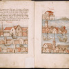 Text with illustrations of Venice, rubrics ff. 1v-2
