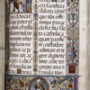 Text with full border, including grotesques; miniature of priests saying mass.  Placemarkers, initials, portrait of St. Petronius.  Defaced inscription:  Tempore D. Galeacci Marscotti.