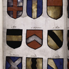 Coats of arms with note of explanation.
