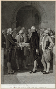 Inauguration of Washington.