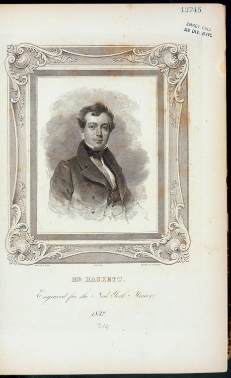 Fascinating Historical Picture of James Henry Hackett in 1832