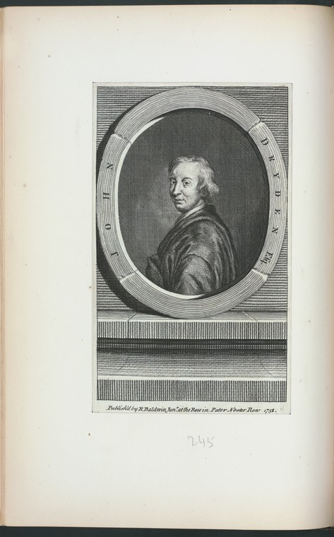 Fascinating Historical Picture of John Dryden in 1752
