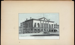 Washington Hall, Broadway, corner of Reade Street.