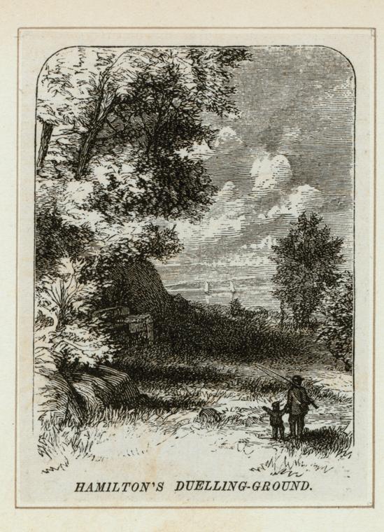 Portrait of the Dueling Ground between Alexander Hamilton and Aaron Burr