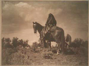 A woman of the desert, Navajo.