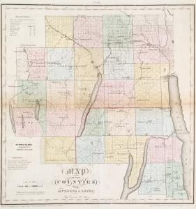 Map of the counties of Ontario & Yates / by David H. Burr ; engd. by Rawdon, Clark & Co., Albany, & Rawdon, Wright & Co., N.Y.
