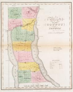 Map of the county of Seneca / by David H. Burr ; engd. by Rawdon, Clark & Co., Albany, & Rawdon, Wright & Co., N. York.