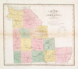 Map of the county of Madison / by David H. Burr ; engd. by Rawdon, Clark & Co., Albany, & Rawdon, Wright & Co., N.Y.