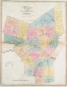 Map of the county of Oneida / by David H. Burr ; engd. by Rawdon, Clark & Co., Albany, & Rawdon, Wright & Co., N.Y.